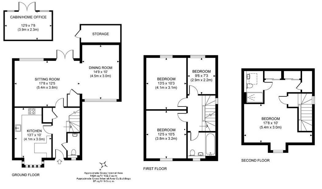 Floorplan for Carter Drive, Horsham